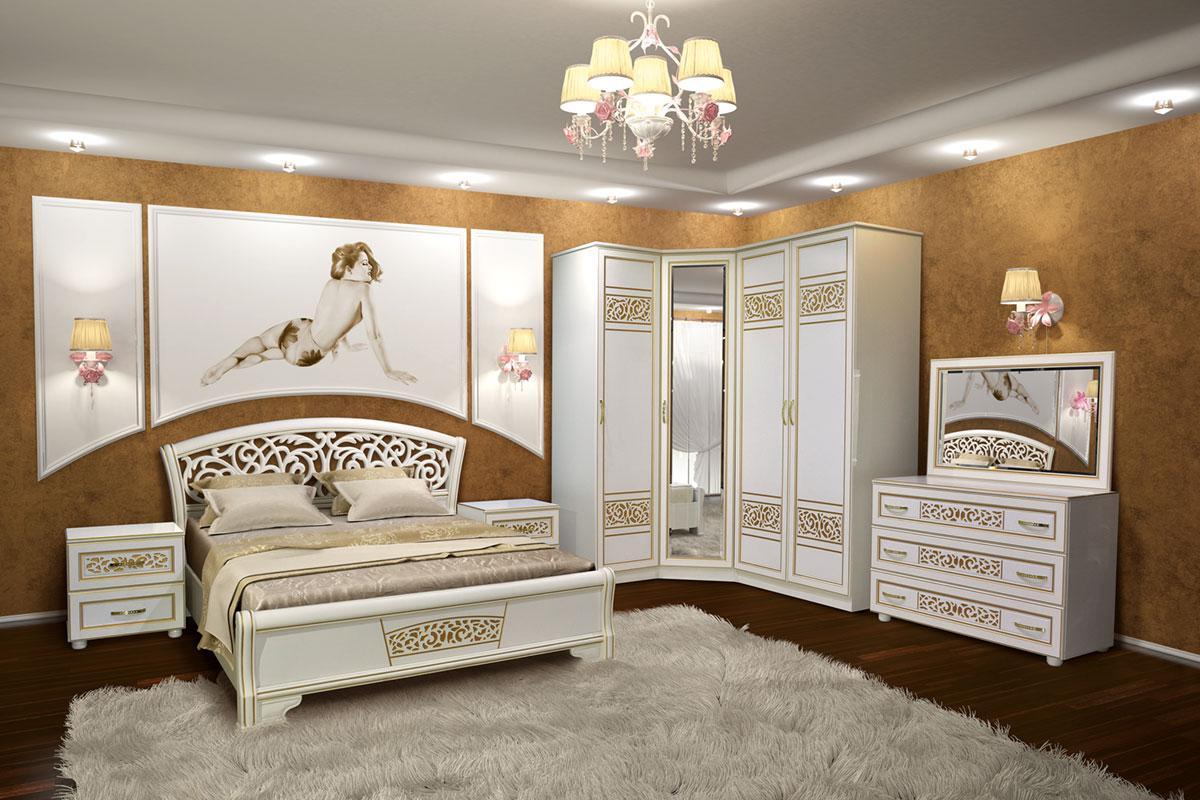 Спальня угловая Полина Новая (Свит Меблив)