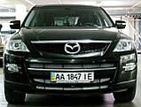 Декоративно-захисна сітка радіатора Mazda CX9 бампер, фото 5
