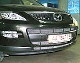 Декоративно-захисна сітка радіатора Mazda CX9 бампер, фото 2