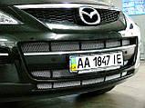 Декоративно-захисна сітка радіатора Mazda CX9 бампер, фото 3