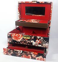 Шкатулка для украшений лакированный кожзам, фото 2