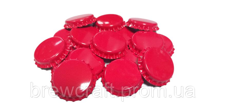 Крышки пивные красные. Кроненпробки 100 шт 26 мм, фото 2