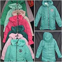 Куртка для девочки демисезонная (цвет зеленый), рост 128-152 см., 590/680 (цена за 1 шт. + 90 гр.)