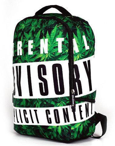 молодежный рюкзак с коноплей