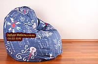 Кресло мешок груша с рисунком музыка