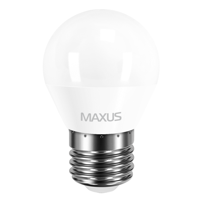 Светодиодная LED лампа MAXUS, 4W, 4100K, 220V, G45 F, E27