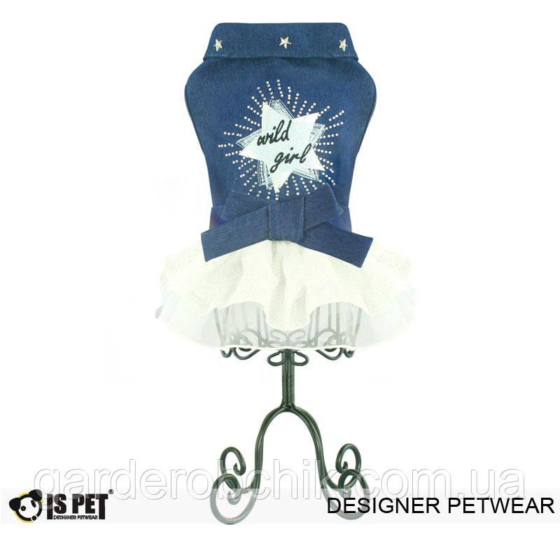 """Платье джинсовое для собаки, кошки """" Звезда"""" IS PET. Одежда для собак."""
