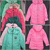 abcf794841db Яркая демисезонная куртка для девочки (цвет малиновый), рост 128-152 см.