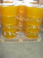 Штора термоиз. ПВХ   ANTI  INSECT (-15 C)  2мм-200мм(50м) ребристая жёлтая, фото 1