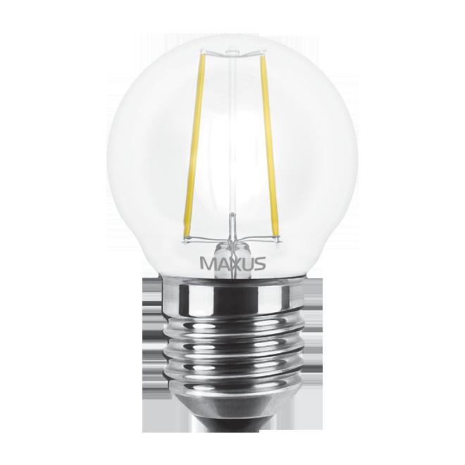 Светодиодная LED лампа MAXUS, 4W, 4100K, 220V, G45 FM, E27