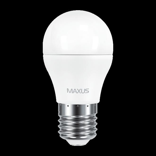 Светодиодная LED лампа MAXUS, 6W, 4100K, 220V, G45 F, E27