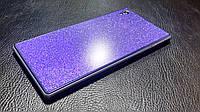 Декоративная защитная пленка для телефона Sony Xperia Z1 сиреневый блеск, фото 1