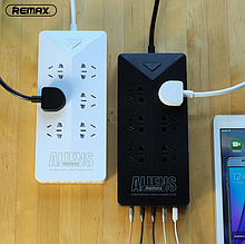 Комби удлинитель Remax Aliens RU-S4 с 5 USB евровилка