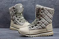 Женские зимние ботинки Timberland бежевые 3593