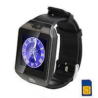 Смарт часы - GSM телефон DZ09 (SIM, microSD, Bluetooth, шагомер, камера) Black, фото 1