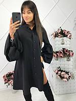 Стильное женское платье на пуговцах