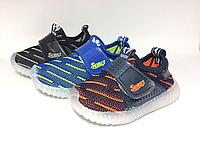 Детские светящиеся кроссовки для мальчиков Размеры 21-26