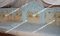 Бортики высокие (40 см) и комплект постели в кроватку детскую, фото 1