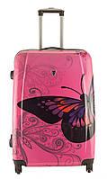 Чемодан Madisson 16820 (Большой) Розовый с бабочкой