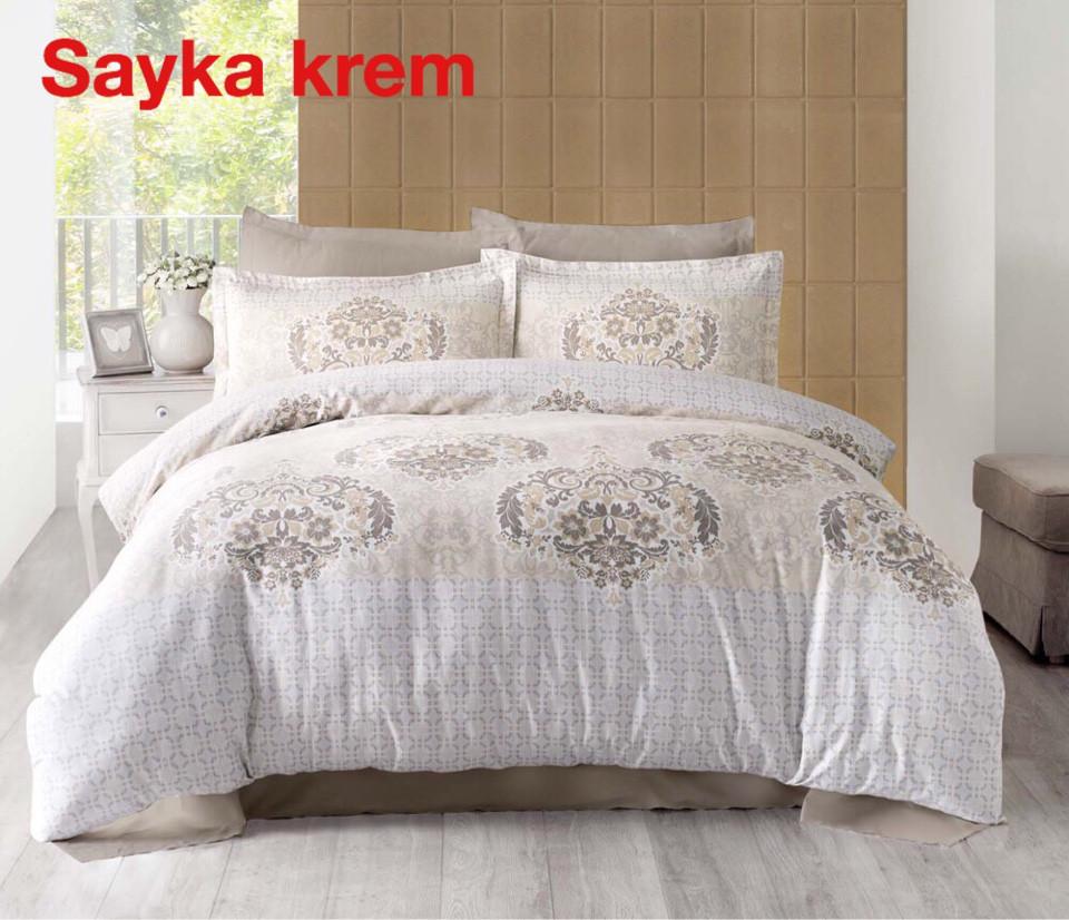 Постельное белье Altinbasak (семейное) сатин № Sayka Krem