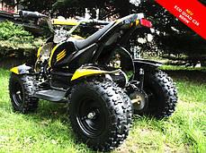 Детский квадроцикл Profi HB - 6 EATV 800W черно-желтый с фарой, фото 3