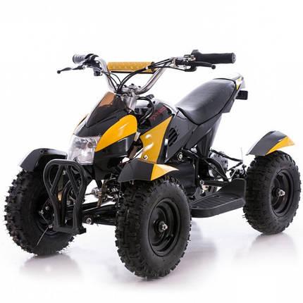 Детский квадроцикл Profi HB - 6 EATV 800W черно-желтый с фарой, фото 2
