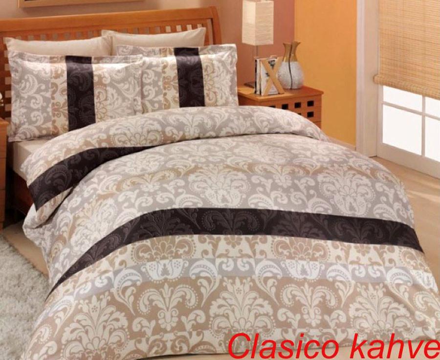 Постельное белье Altinbasak (семейное) сатин № Clasico Kahve