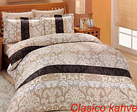 Постельное белье Altinbasak (семейное) сатин № Clasico Kahve, фото 1