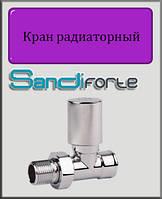 """Кран радиаторный с ручкой SD Forte хром 1/2"""" прямой"""