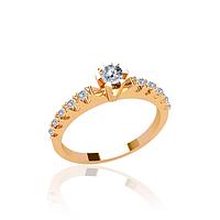 Помолвочное золотое кольцо с фианитами.гп20930