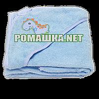 Детское махровое (очень длинная петля) уголок-полотенце после купания 95х95 см ТМ Ярослав 3073 Голубой 4