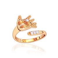 """Золотое кольцо """"Ручка младенца"""" с фианитами КП10620"""