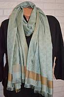 Палантин шарф в стиле Louis Vuitton (Луи Витон) оливковый