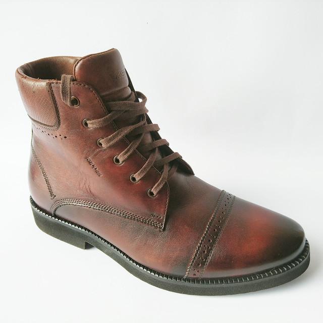Зимняя, мужская обувь от Kepper город Бровары молодежные высокие кожаные ботинки, коричневого цвета