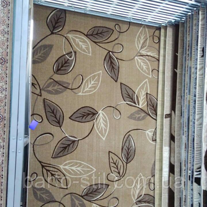 """Ковёр Daffi коричневый """"листья"""" 2.00х3.00 м."""