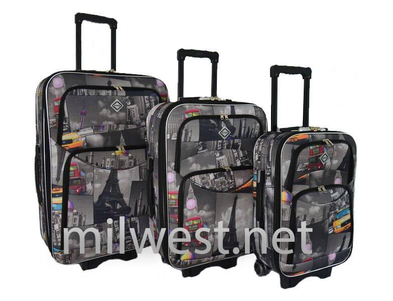 Комплект трех чемоданов Bonro Style 773 Города