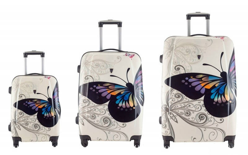 Комплект чемоданов Madisson 16820 Белый с бабочкой
