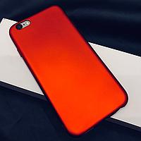 Силиконовый чехол на iPhone 6/6S красный