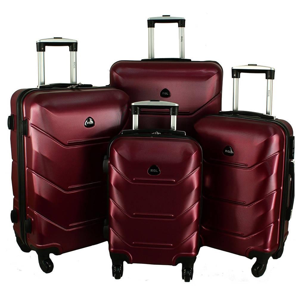Комплект чемоданов RGL 720 4 в 1 Бордовый