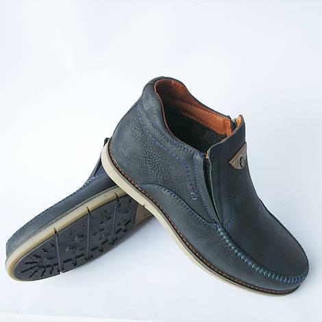 Мужская обувь украинского производителя : зимние ботинки, синего цвета, на меху, повседневные, фабрики Falcon