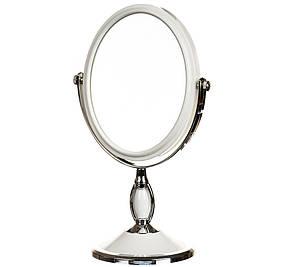Зеркало косметическое двухстороннее с увеличением 28 см 046Z