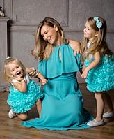 Детское платье -  Мята, фото 1