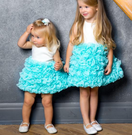 Детское платье -  Мята