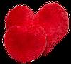 Велика подушка Аліна Серце 75 см червоний