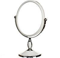 Зеркало косметическое двухстороннее с увеличением 30 см 045Z