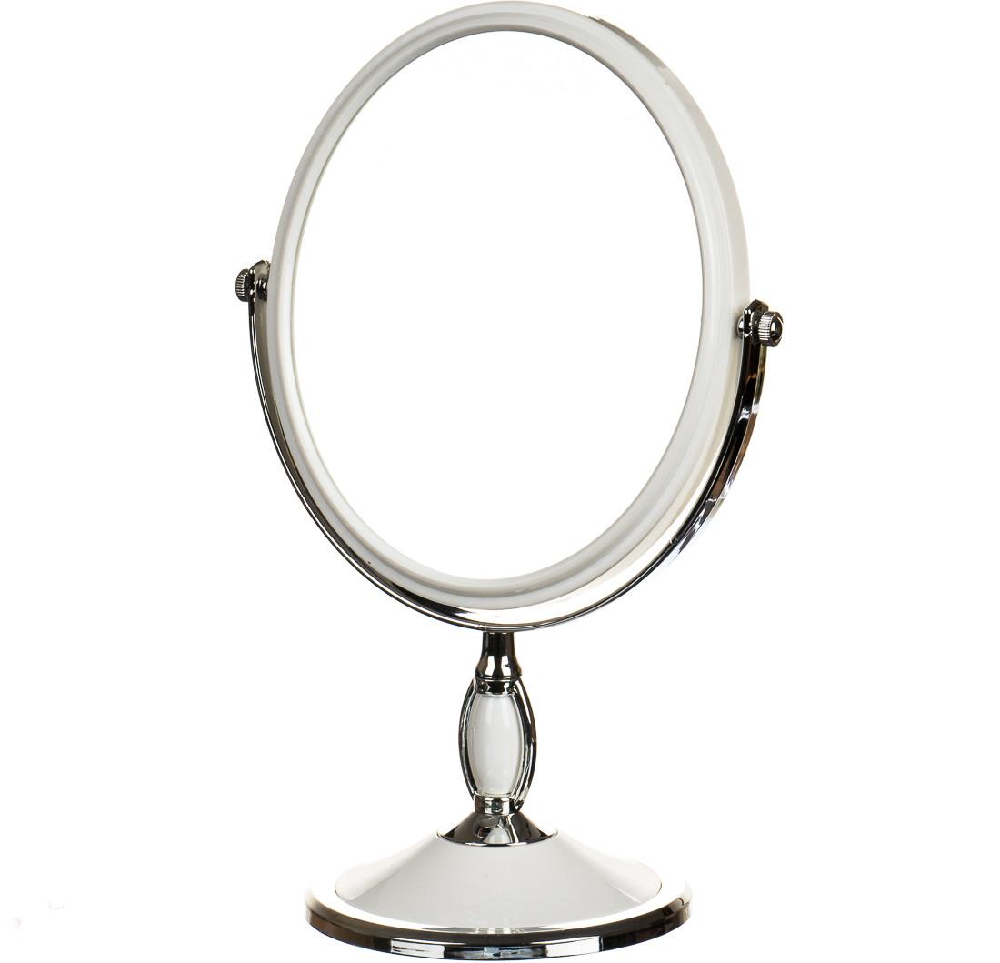 Зеркало косметическое двухстороннее с увеличением 17*2*32см (0500-004)