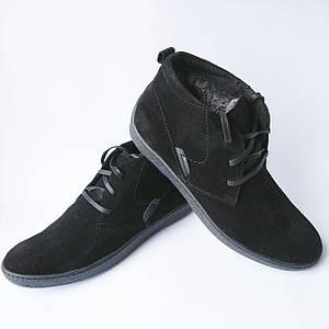 3fe765b7fbc6 43,44 Зимняя мужская обувь Safari Украина   замшевые ботинки, черного  цвета, на меху