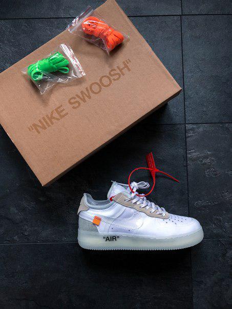 ebb84738 Мужские кроссовки Nike Air Force 1 Low - White, Копия: продажа, цена ...