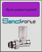 """Кран радиаторный с ручкой с антипротечкой SD Forte хром 1/2"""" прямой"""
