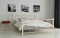 Кровать Кира 90х190 см Односпальная кровать металлическая Мадера, Доставка 250грн по Украине